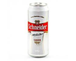 Cerveza en lata Schneider...