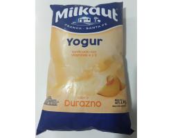 yogurt Milkaut 1lt durazno...